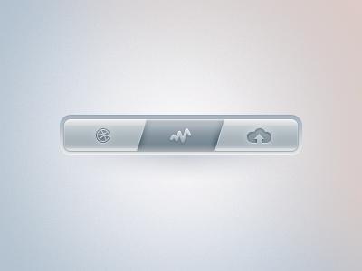 Dribbble Navigation Bar. design tjaydesign awesome gray bar navigate ui form button web rebound