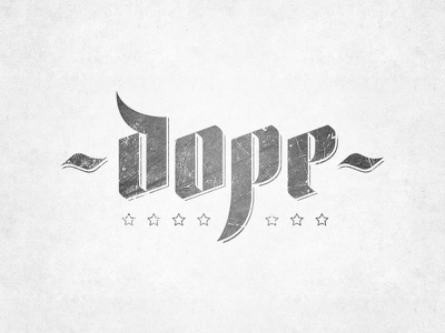 Dope! design tjaydesign awesome logo logotype dope gray lettering typography type
