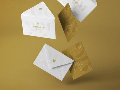 Branding Momu brand woman woman stationery set stationery design stationery golden logo gold corporative gold accessory store female accessories female brand logo accessories