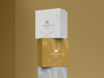 Branding Momu - Packaging queen logotype logodesign store branding branding box jewelry woman store packaging box box jewelry packaging grey silver gold woman logo jewelry brand woman packaging packaging jewelry woman