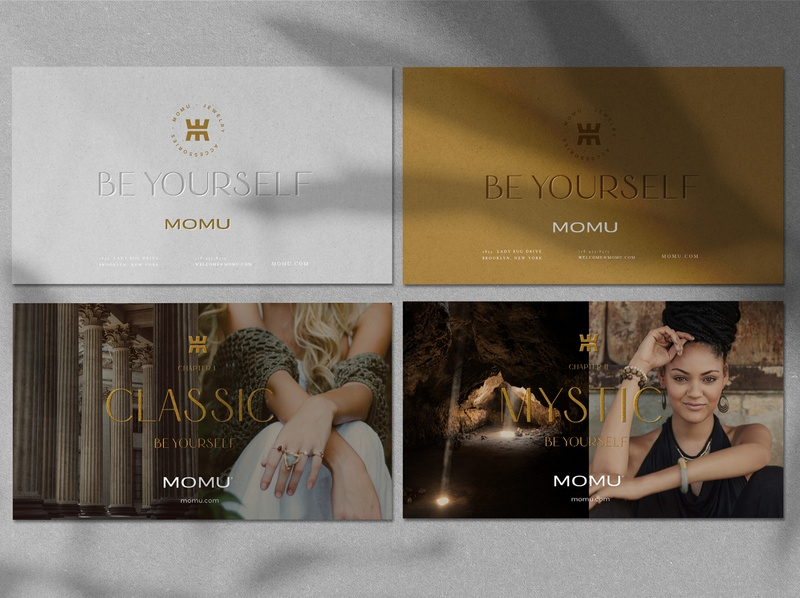 Branding Momu editorial design queen woman brand accessory classic mystic silver gold logotype colombian desing colombia art direction brand identity postal woman jewerly woman logo woman jewerly store jewelry logo jewelry