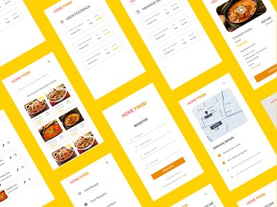 Food App UI Design user interface design userinterface user experience mobileui uxdesign design uidesign ui  ux design ui uiux ui design