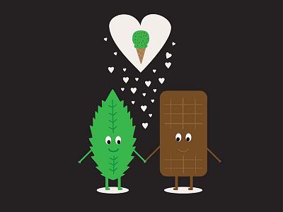 Chocolate Mint illustration vector chocolate witty mint love ice cream humour ice-cream sweet