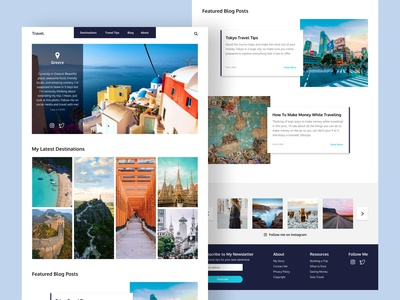 Travel Blog Concept