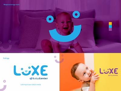 luxe baby center brand design brand identity vector logo design logo branding