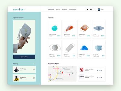 Snap2get - web user interface ux ui webdesign uidesign uiux user experience user interface design figma