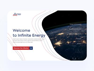 UI Design - Infinite energy landing page user interface design user experience uiux ux ui figma logo branding