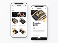 E-Commerce | MMA shopping app