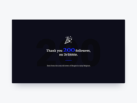 200 Dribbble Followers