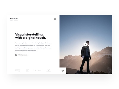 Video Agency landing page