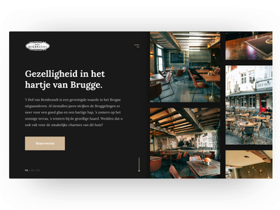 Pub Website Animation after affects brugge landing page restaurant café city drinks food typography animation ux ui website web