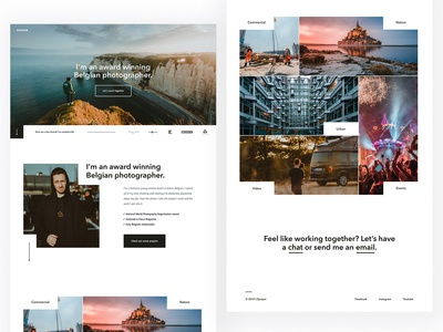 Photographer landing page and portfolio