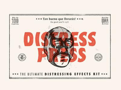 Distress Press Brush & Action Kit for Adobe Photoshop