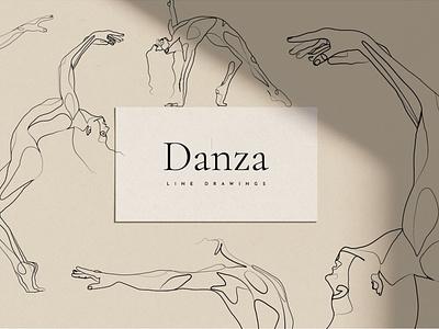 Danza - Dancer Line Art Drawings dance elegant playful minimal line drawing line drawings line art lineart artworks art design illustration art illustrator illustrations illustration graphics graphic templates drawings drawing