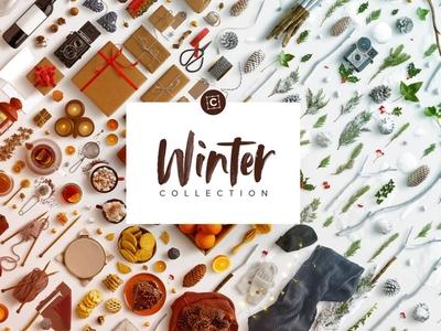 Winter Collection Mockup Scene Creator
