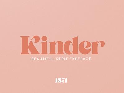 Kinder Font headlines download font didone logotype branding graphic design design font design display font elegant font classic font serif lettering retro font typeface design vintage fonts typefaces typeface fonts font