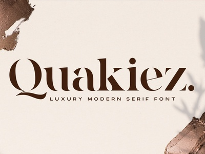 Quakiez - Luxury Modern Serif