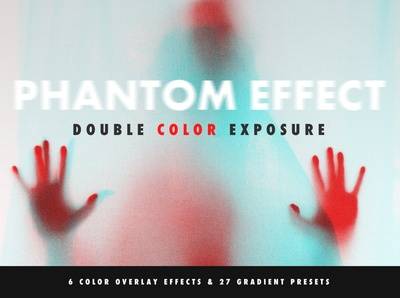 Photoshop Actions: Double Color Exposure and Phantom Effect
