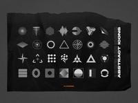 100 Retro Futuristic Graphic Shapes