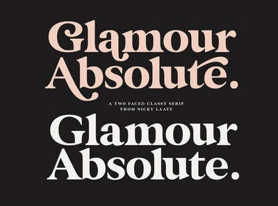 Glamour Absolute Modern Vintage Font