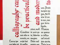 Calligraphy Poster-Practical and Modern
