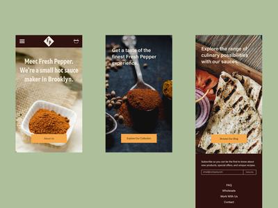 Fresh Pepper Website-Mobile