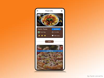 Creative food recipe & info app UI design branding awesome ui food mobile app ui food recipe ui design food info food recipe ui food recipe food app ui creative app food app
