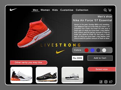 Nike redesign web UI concept web design ui redesign web ui professional web ui web ui design web design awesome web ui branding ui awesome ui nike web ui nike web ui redesign nike app web ui web ui nike app redesign nike