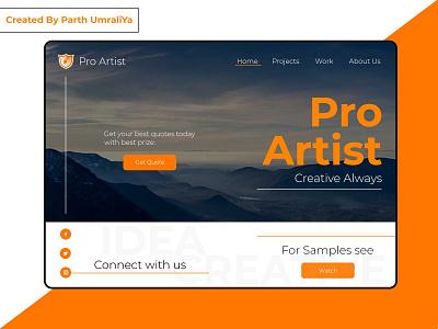 Pro Artist - Personal Web Ui Design Concept design ui ui design pro artist web ui pro create pro web ui pro ui pro artist web ui illustration creative design awesome ui awesome design
