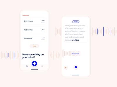 Voice Notes App notes voice clean simple uiux uidesign design app app ux minimal ui design