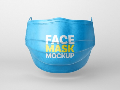 Face Mask Mockup Set   Respirator protect mask respirator pandemic pandemia virus covid-19 covid19 covid 2020 mockup realism photorealistic mockup branding mockup template mockup design