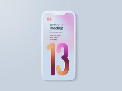 iPhone 13 Pro Clay Mockup Set iphone 13 device screen app clay iphone clay iphone mockup mockup template mockup design