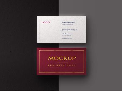 Business Card Mockup Set simple elegant premium mockup corporate id logo craft paper card business card branding mockup template mockup design