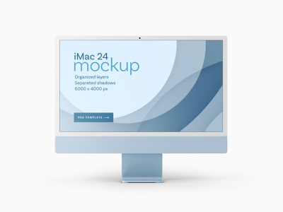 "The New iMac 24"" Mockup Set | 2021 web"