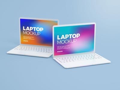Macbook Pro Clay Mockup