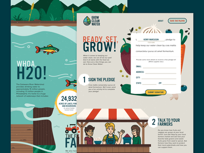 Grow Clean Water website design design copywriting illustration graphic design