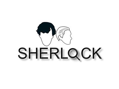 Sherlock TVShow tv show illustration art sherlock doodleart artist illustration flat minimal design