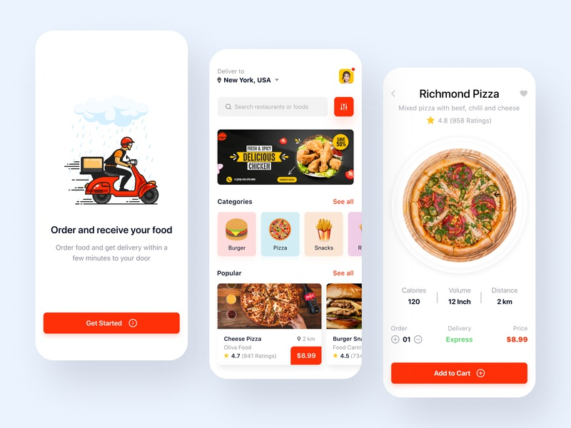Food Delivery App Design shopping app cooking app food app pizza delivery ecommerce app online shopping recipe meal planner delivery service mobile app mobile product design food delivery app android app app app design app designer ios app food delivery food