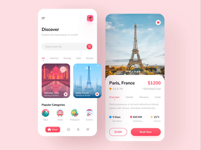 Travel App Design for Travel Agency, Traveler, Trip, Tour app designer explore booking travel app traveller traveler travel agency traveling adventure vacation tourist tourism tour trip travel design ui mobile app design app