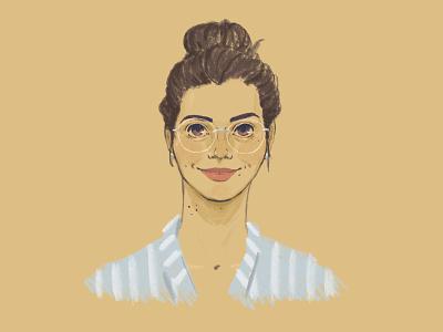 Self-portrait face human digital illustration self-portrait people portrait procreate illustration drawing