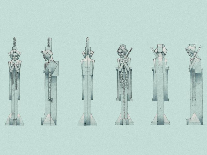 Gardensprites. Reinterpretation Of Original Drawings For The Garden Sprites  Sculptures Designed By Frank Lloyd Wright ...