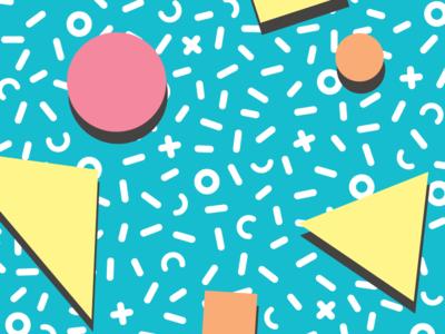 Memphis Confetti Pattern  product design home goods illustration geometric shapes home decor tableware pop trend retro pattern vector