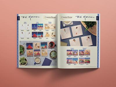 R.C. Gorman Sales Sheet for Merchant Buyers pattern home decor art document design product development branding advertising