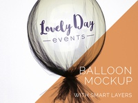 Balloon Mockup Freebie