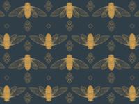 Charcoal & Gold Cicadas