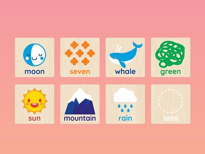 Education Illustrations simple flat retail digital education children illustration toys vector