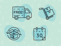 E-Commerce Shipping Icon Set