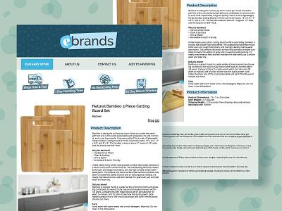 eBay Listing Template ui online store ebay digital channeladvisor e-commerce template web