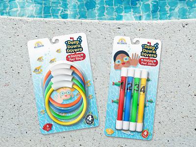 Deep Down Divers Packaging retail summer illustration vector children packaging