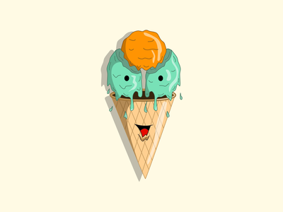 Happy Ice Cream design illustration